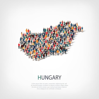 People map country hungary