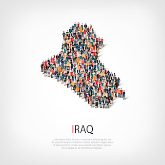 People map country iraq
