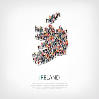 Люди карта страны ирландия