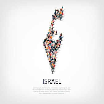 People map country israel