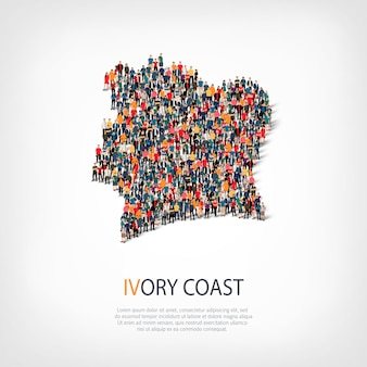 People map country ivory coast