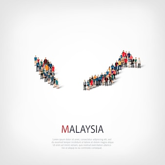People map country malaysia