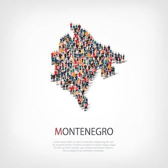 Люди карта страны черногория