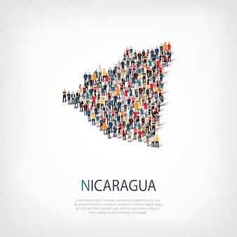 人々は国ニカラグアをマップします