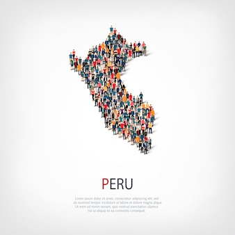 People map country peru