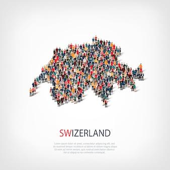 Люди карта страны швейцария