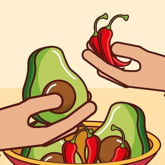 人々メキシコ料理