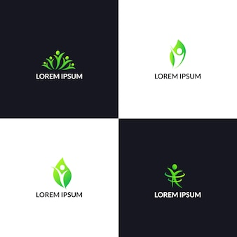 People nature health care logo template