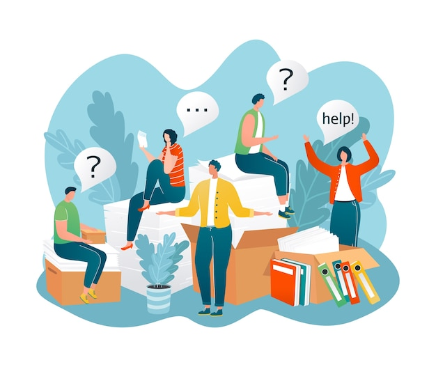 People in need of help, frequently asked questions around question marks