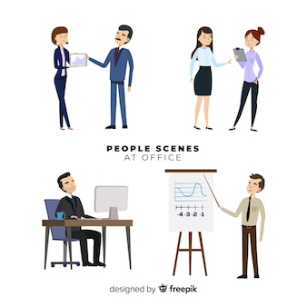 People at the office scenes set