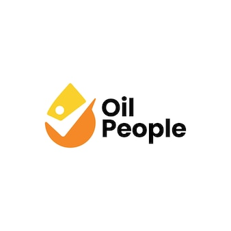 Шаблон логотипа проверки капли масла