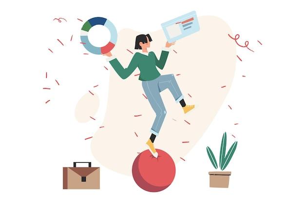 과체중, 비용, 전력 및 비교의 개념 인 스윙을하는 사람들이 그들을 능가합니다.