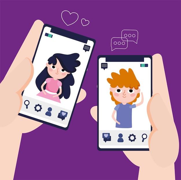사람들 온라인 대화 소셜 미디어