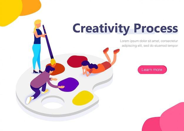 People on palette at design work.