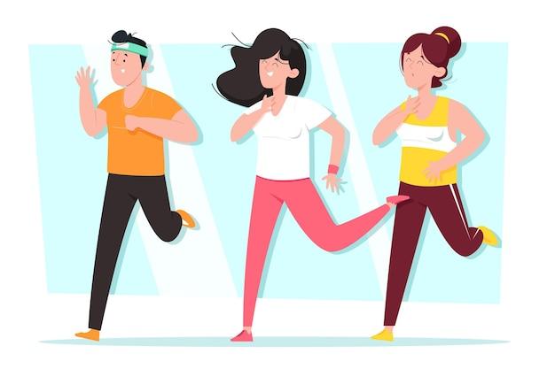 Persone che partecipano a una lezione di danza fitness