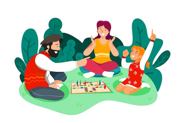 People playing ludo game