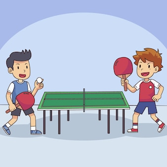 卓球をしている人