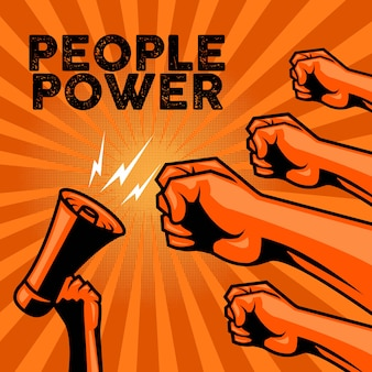 People power for protest poster