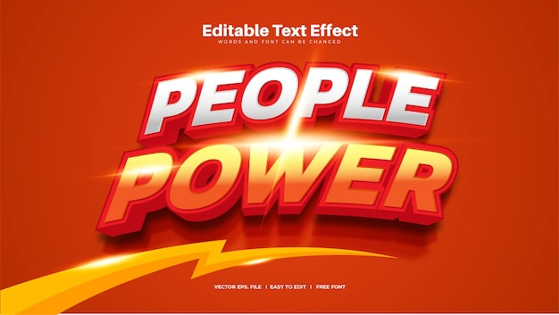 People power text effect