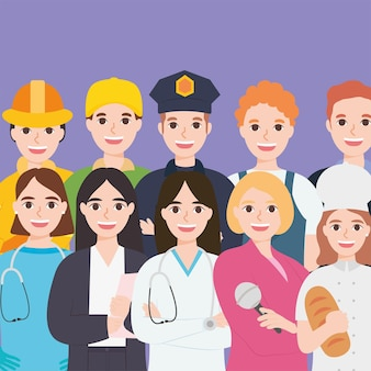 Иллюстрация профессий людей