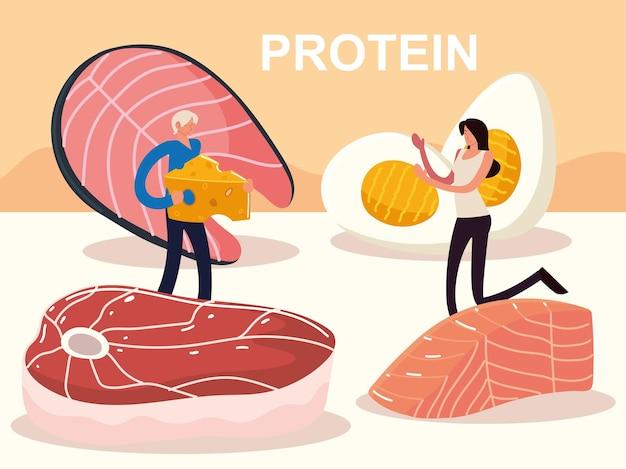 Люди белок еда рыба яйцо мясо