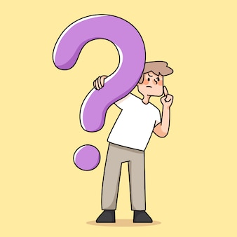 People question mark illustration decision making concept