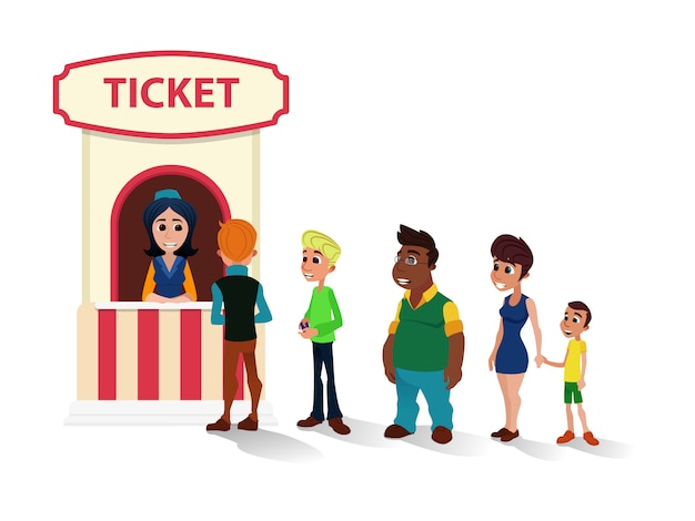 People queue to cinema касса мультфильма