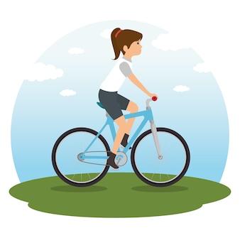 乗馬のバイク
