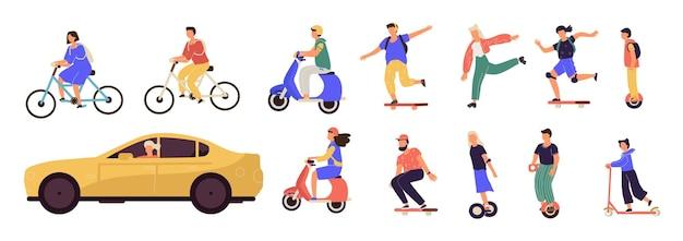 Люди езда иллюстрации