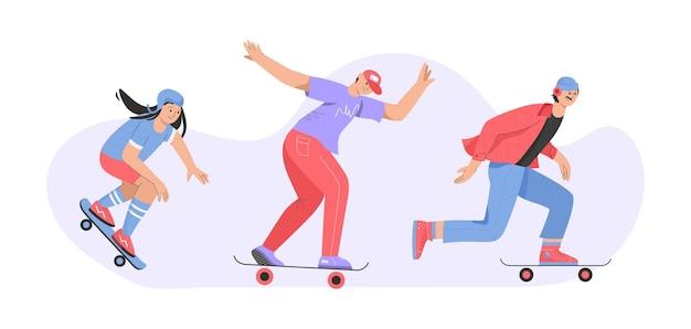 スケートボードに乗っている人孤立した人