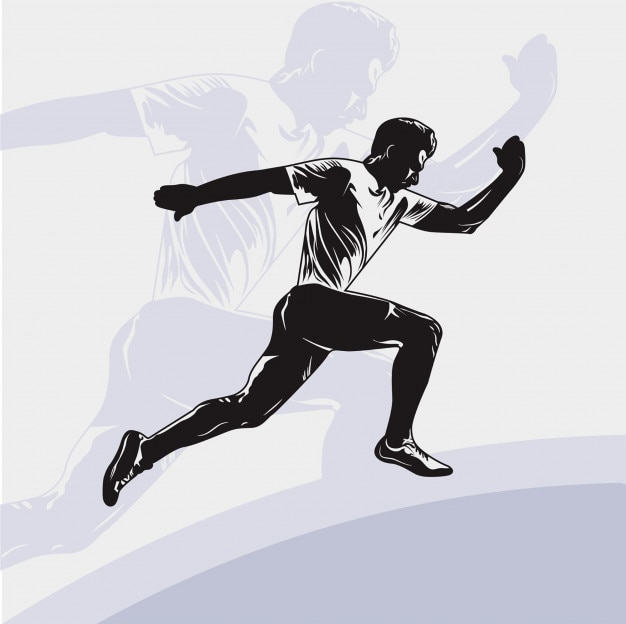 People run vector