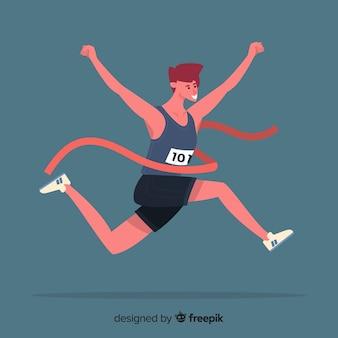 마라톤 경주를하는 사람들