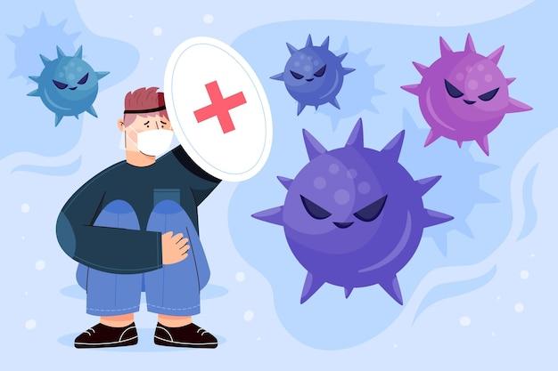 People scared of coronavirus disease