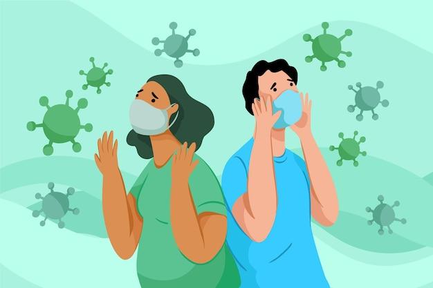 コロナウイルス病が怖い