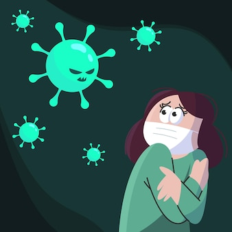 코로나 바이러스를 두려워하는 사람들