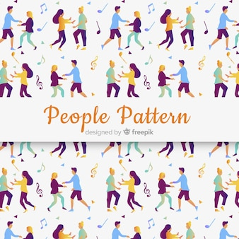 People seamless pattern design