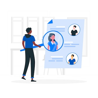 People search concept illustration