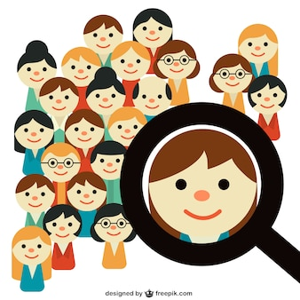 People search Free Vector