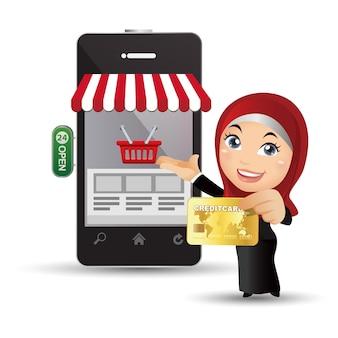 People set  arab business people Premium Vector