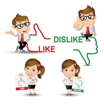 People set  business business people like dislike