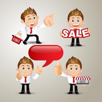 사람 세트-비즈니스-판매