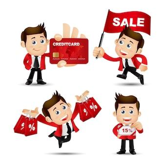People set  business sale
