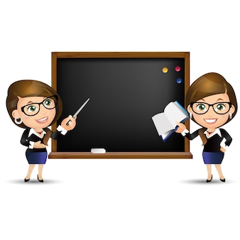 사람들이 설정 교육 교사 여자 화이트 보드