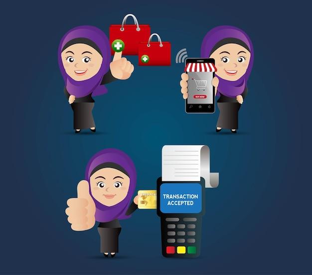 Люди настраивают электронные покупки на мобильные платежи