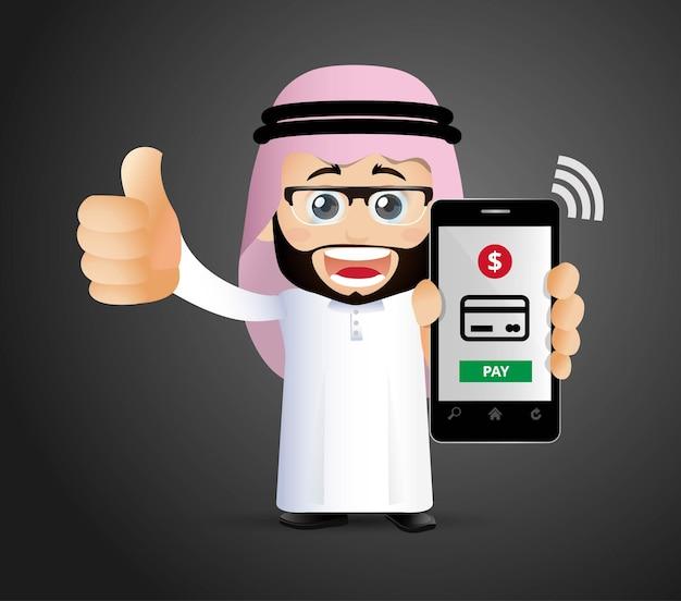 Люди устанавливают мобильные платежи