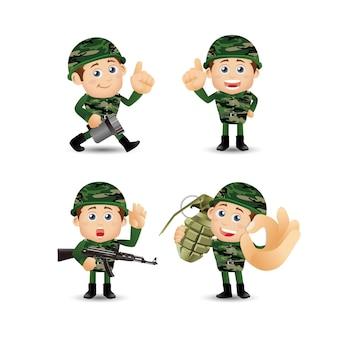 Люди устанавливают армию профессии