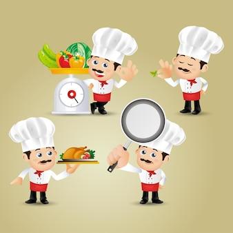People set  profession chef
