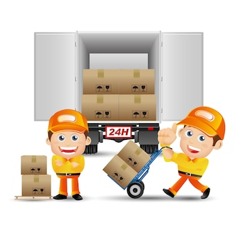 People set - profession - delivery person