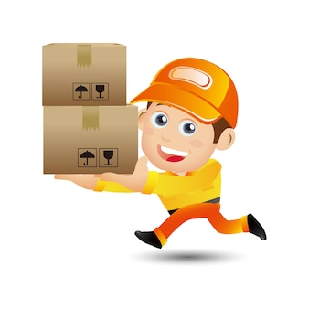 People set profession delivery person