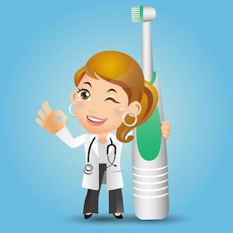 人々は職業歯科医を設定します